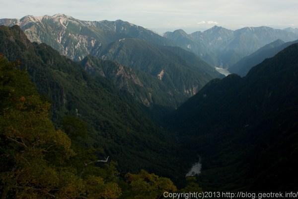 130922槍穂縦走、東鎌尾根から剣岳