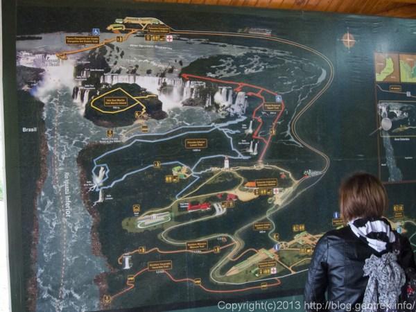 130827イグアス国立公園の地図