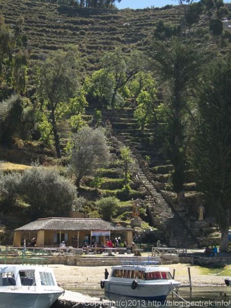 130907ボリビア、ティティカカ湖太陽の島