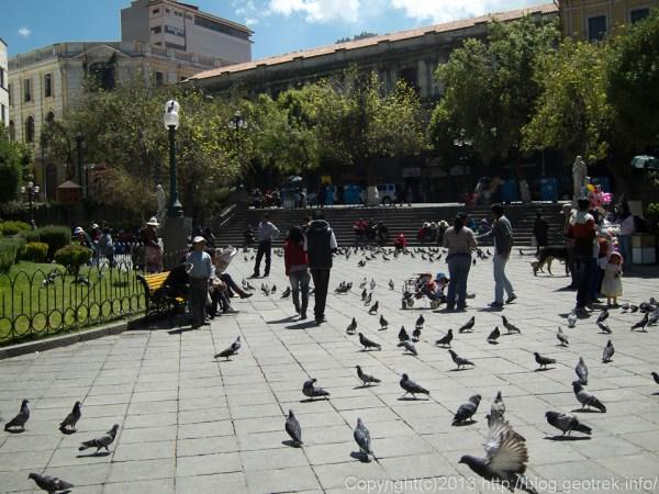 130908ボリビア、ラパスのムリリョ広場
