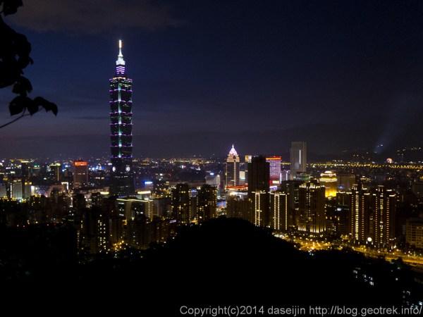 140913台湾、象山からの台北の夜景