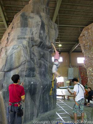 プルージック登攀の練習
