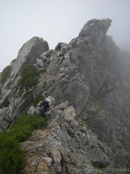 110815剱岳北方稜線池ノ谷尾根の頭から縦走