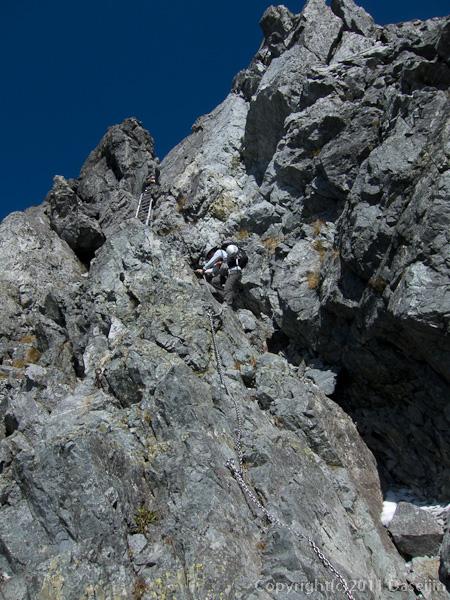 110924剱岳鎖場
