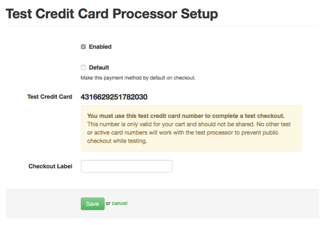 Generated Card Number