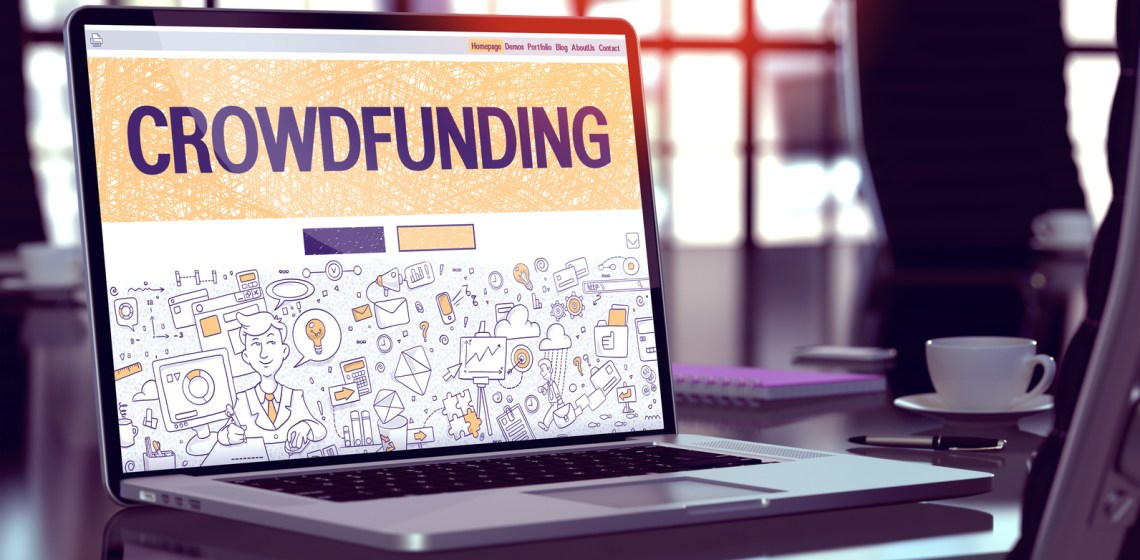 Picture of Crowdfunding Concept on Laptop Screen