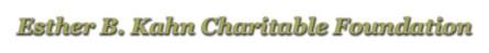 Esther B Kahn Charitable Foundation