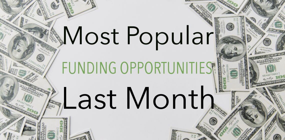 Most Popular Funding Opportunities Last Month