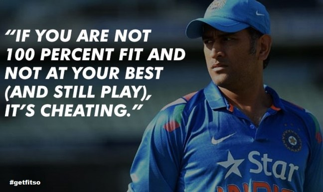 Fitness, ms dhoni, Captain