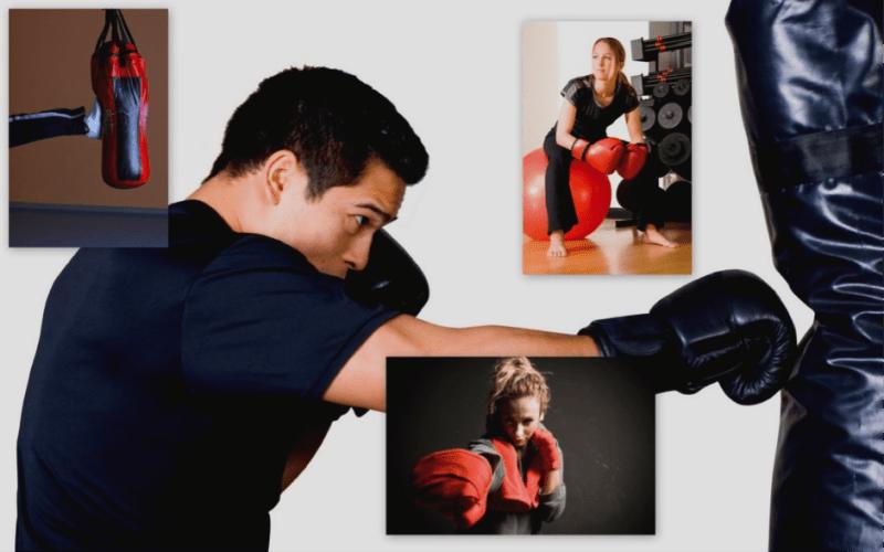 boy kickboxing to lose weight