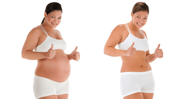 before and after pregnancy