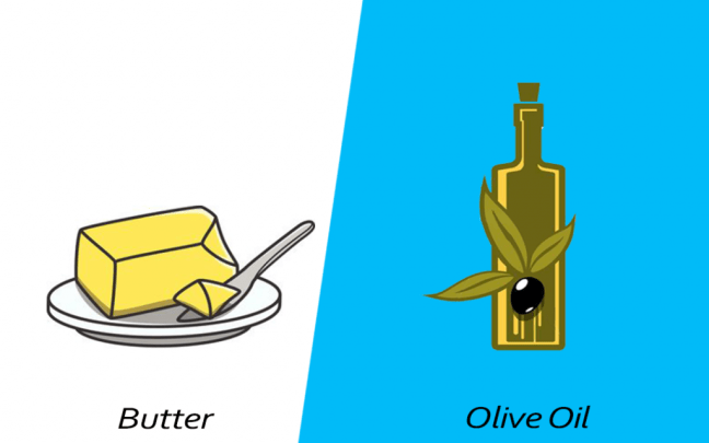 Intelligent food swap - Olive oil over butter