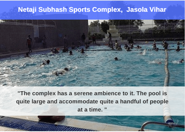 Netaji Subhash Sports Complex : best swimming pool in delhi