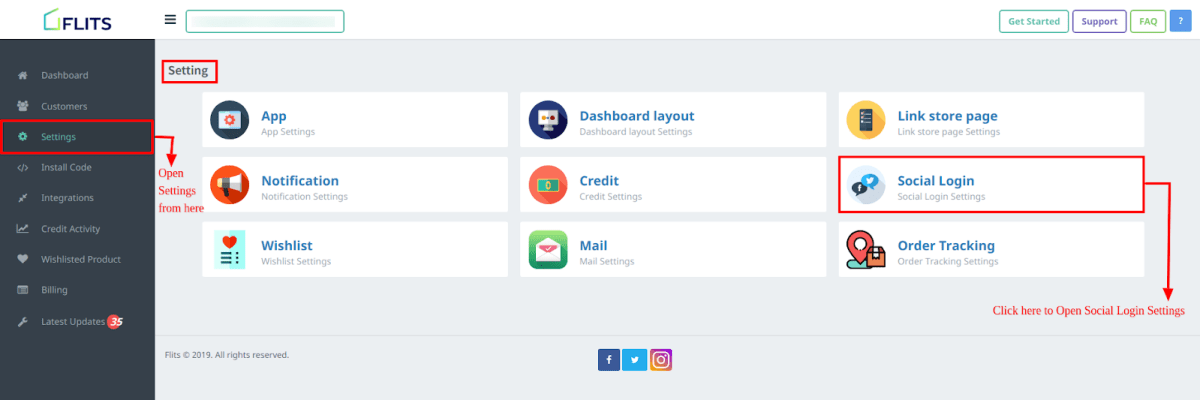 step 4 social login for customer account page