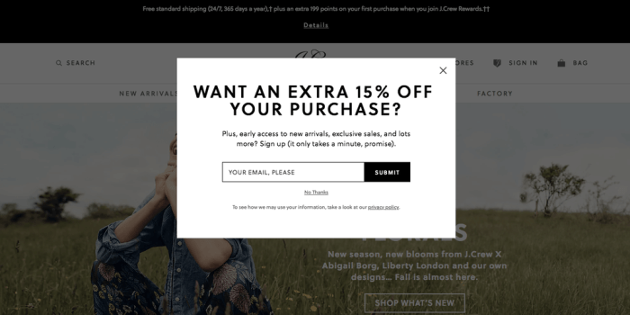 exit intent to increase conversion rate