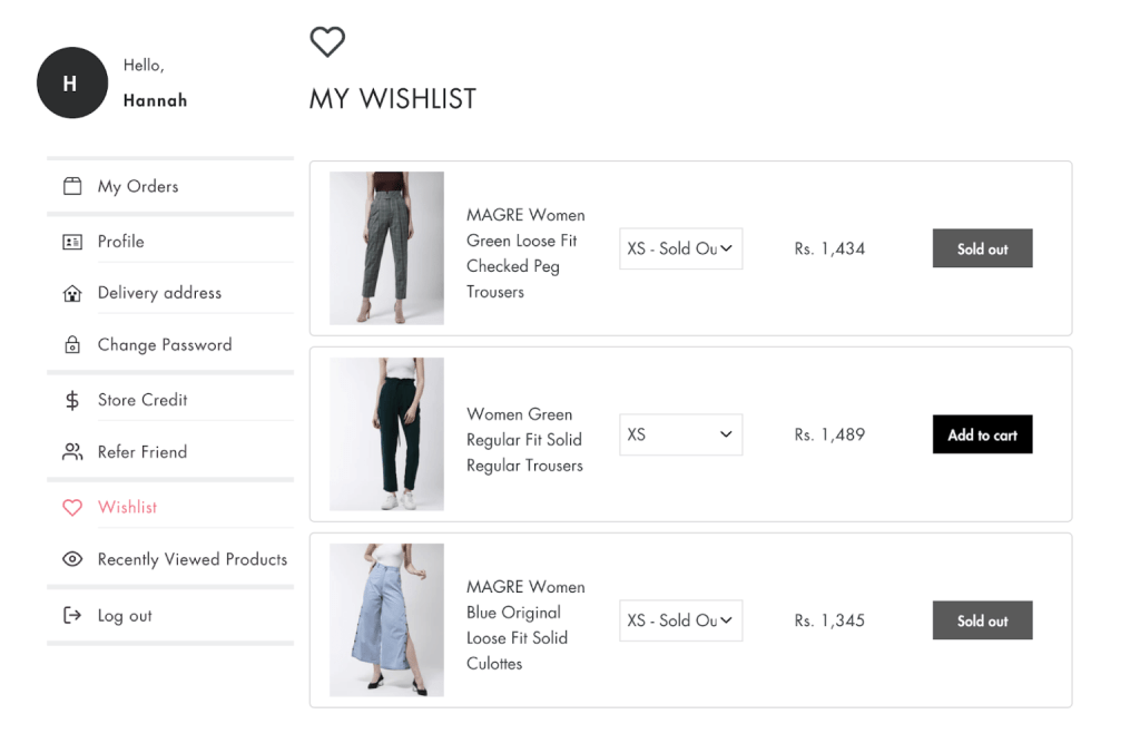 shopify store checkout - customer account pages