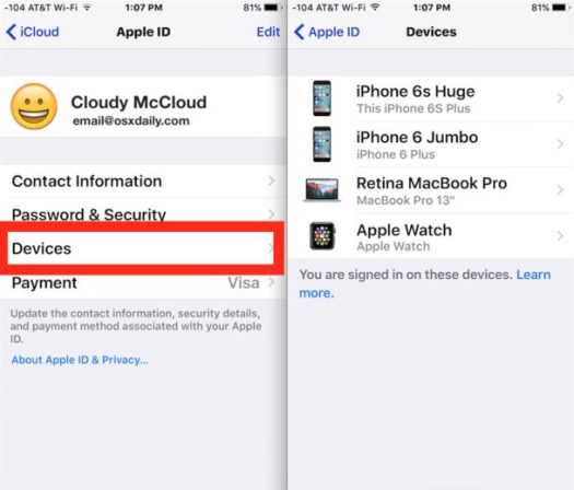 Clear out old devices from your iCloud account