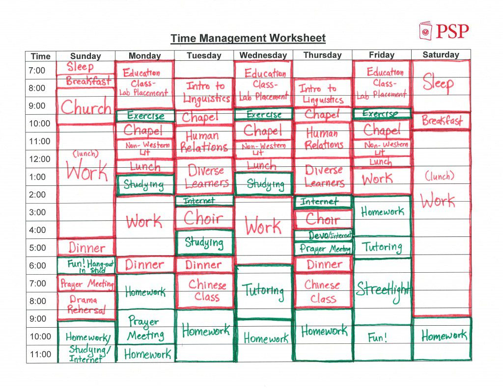 How To Create A Time Management Worksheet Nyc