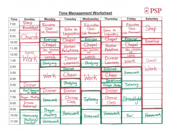 How to create a time management worksheet the magic blog time management worksheet ibookread PDF