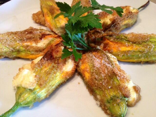 """Fiori di zucca ripieni di ricotta e mozzarella senza glutine BlogGz """"la cucina di miky"""""""