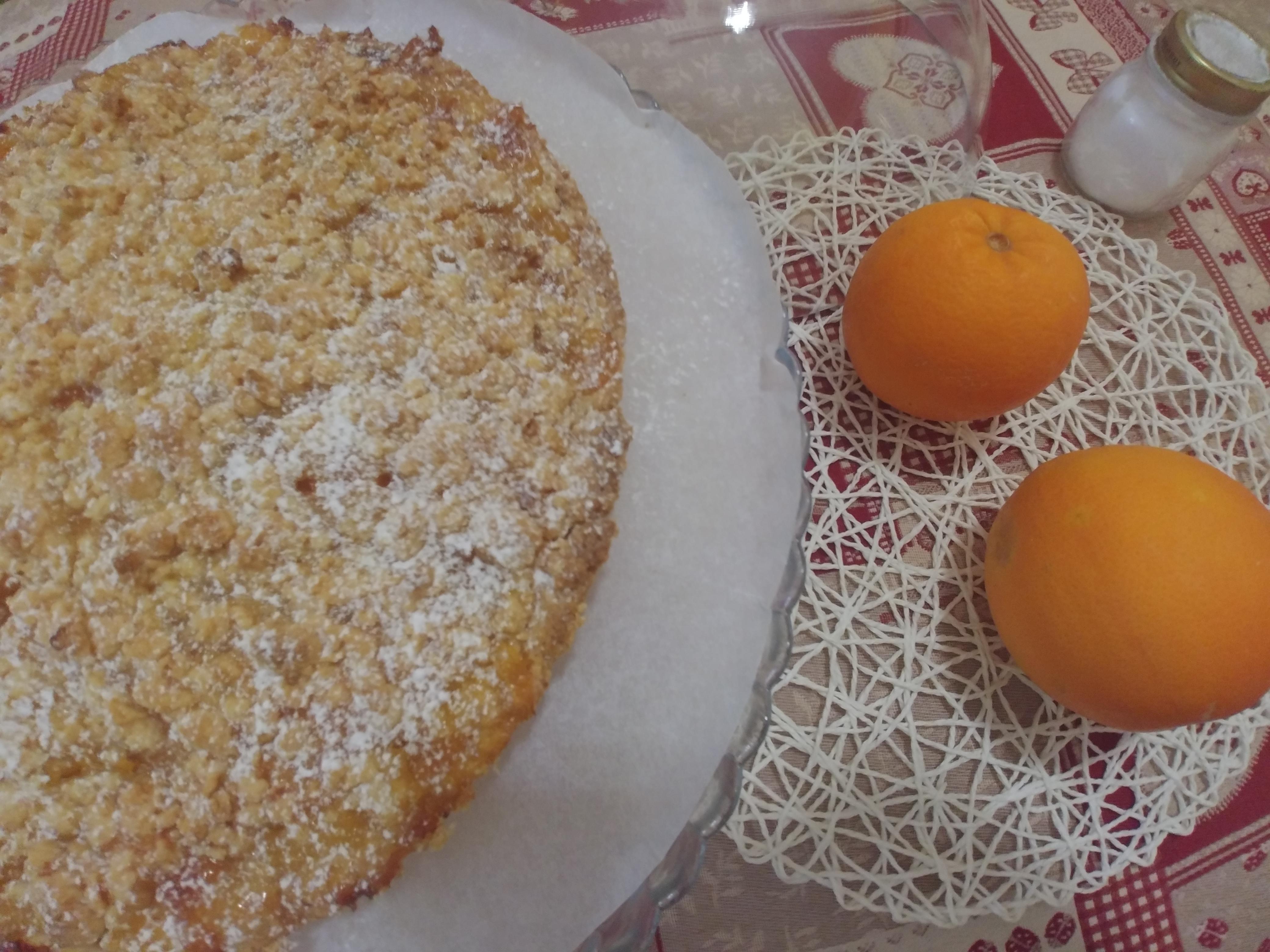 Crostata mimosa all'arancia senza burro