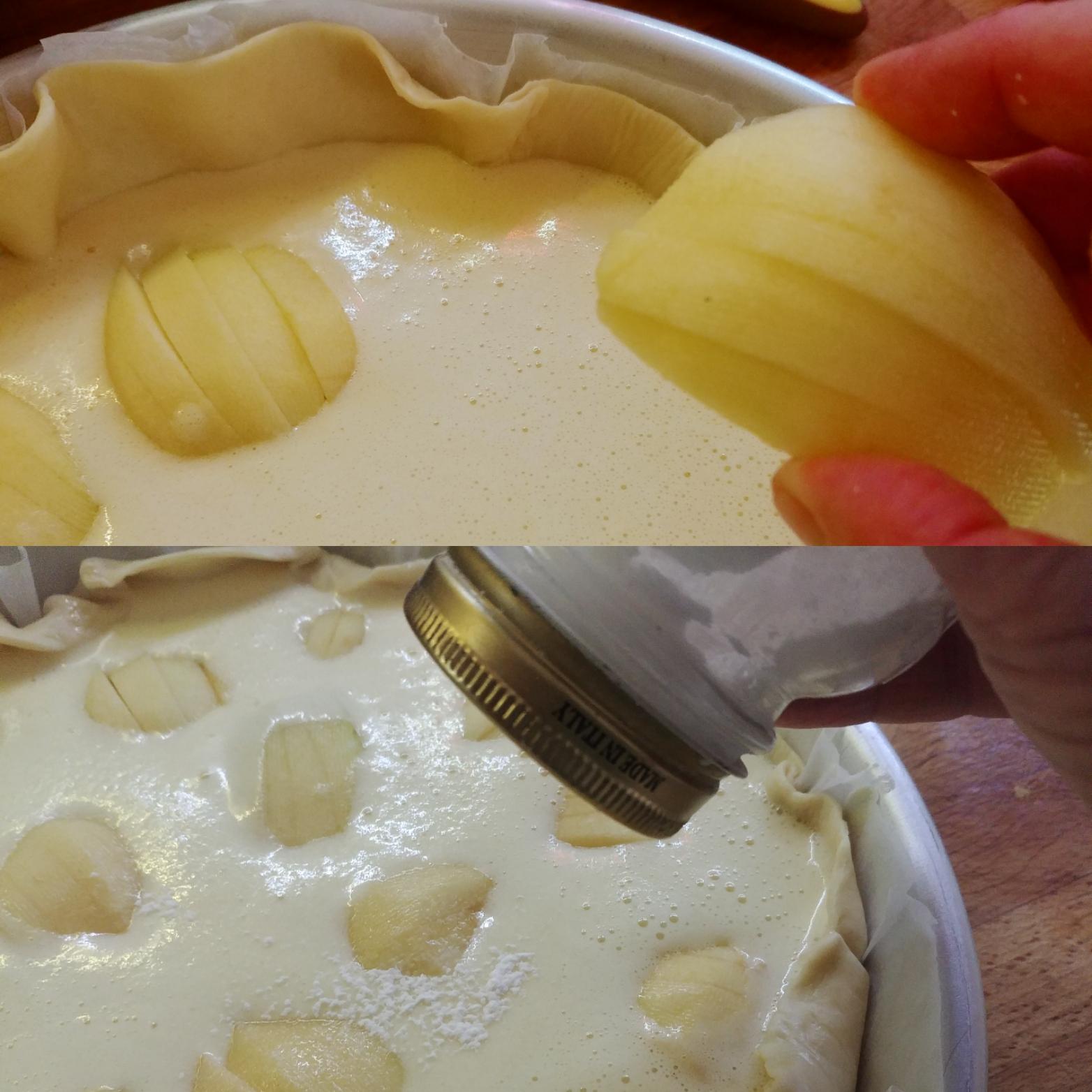 Torta di mele con pasta brisée e zucchero
