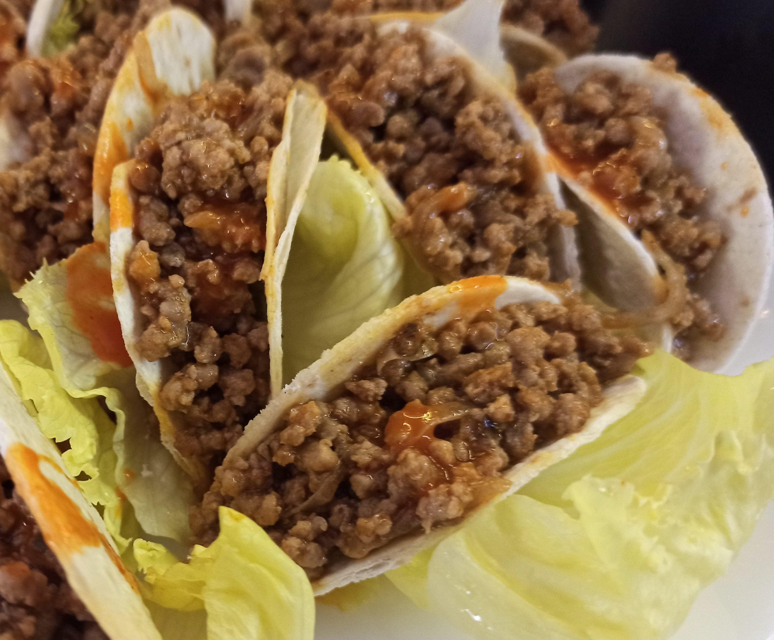 Tacos di carne speziati