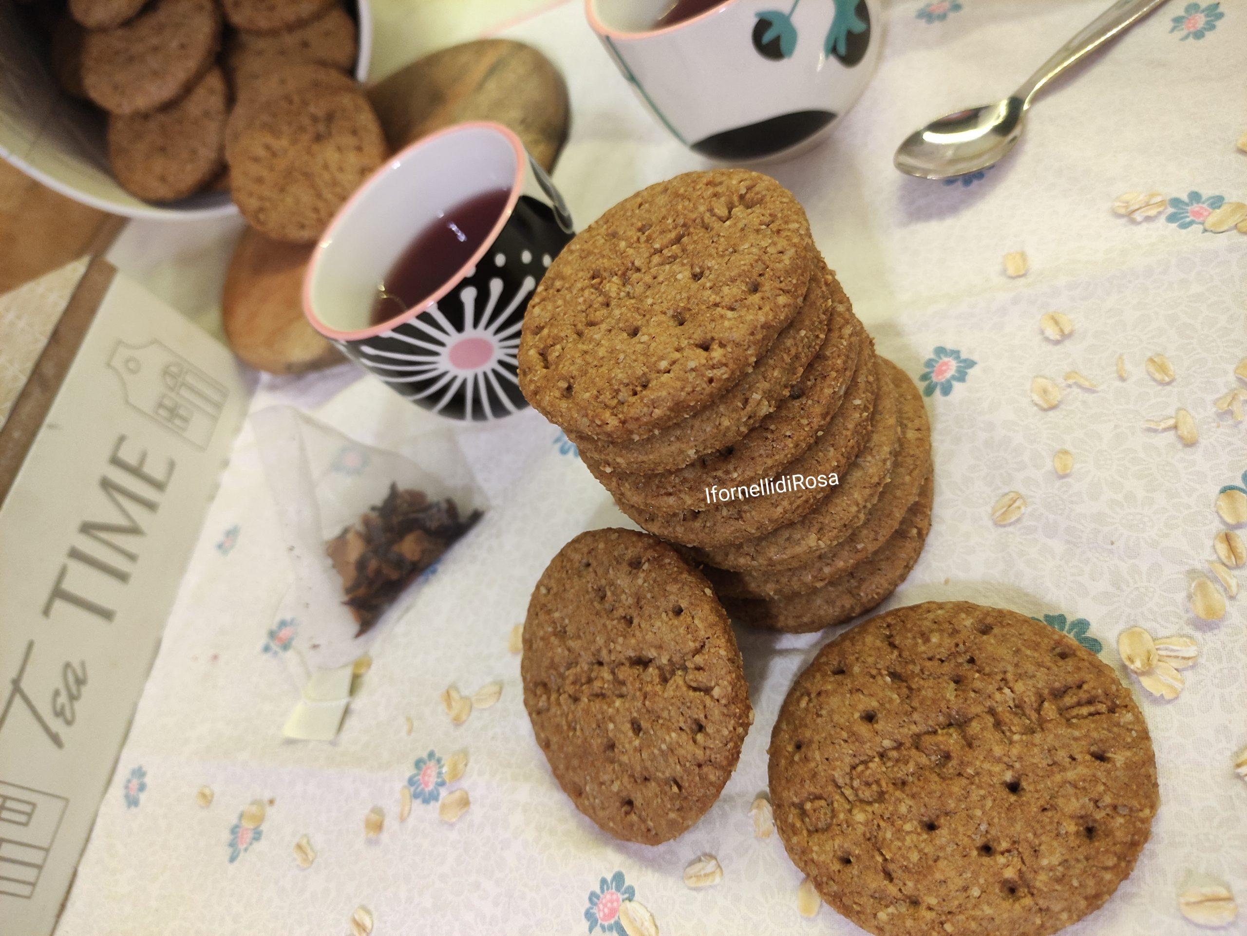 Biscotti digestive integrali fatti in casa