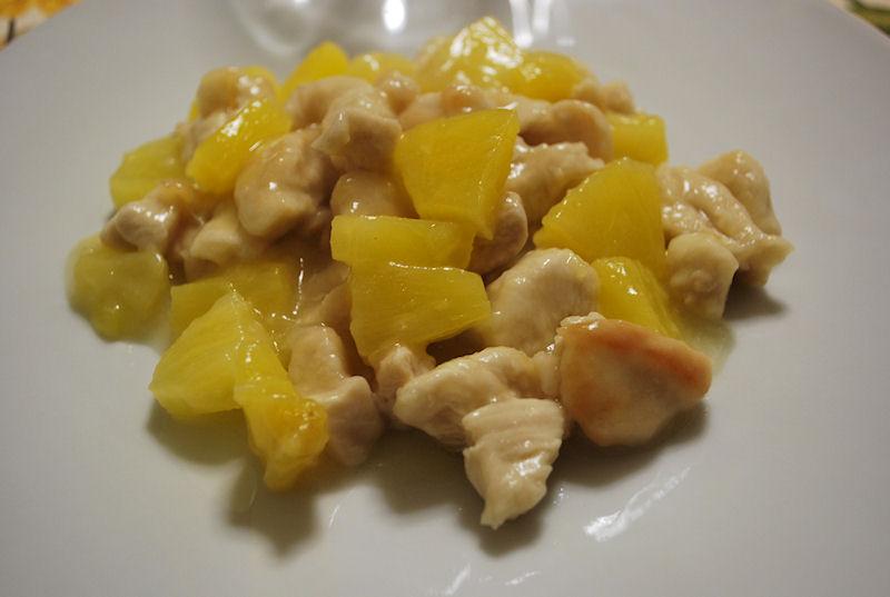 Pollo all'ananas e aceto balsamico