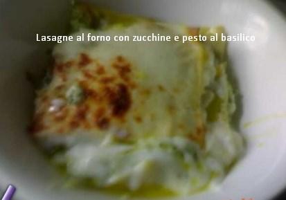 Lasagne al forno con zucchine e pesto