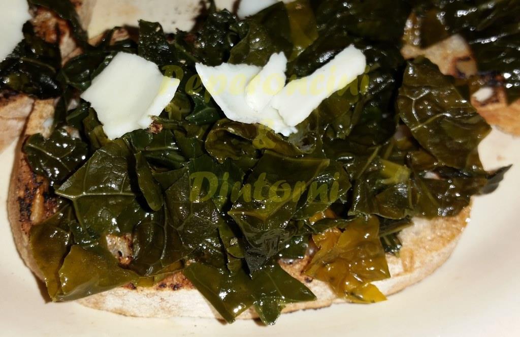 Crostini Cavolo Nero  e ricotta salata
