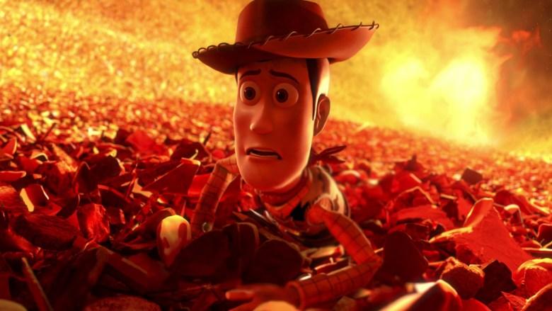 Toy Story 3 La sequenza nella fornace richiese lo sforzo combinato di effetti speciali, fotografia e musica per sottolineare la drammaticità della scena