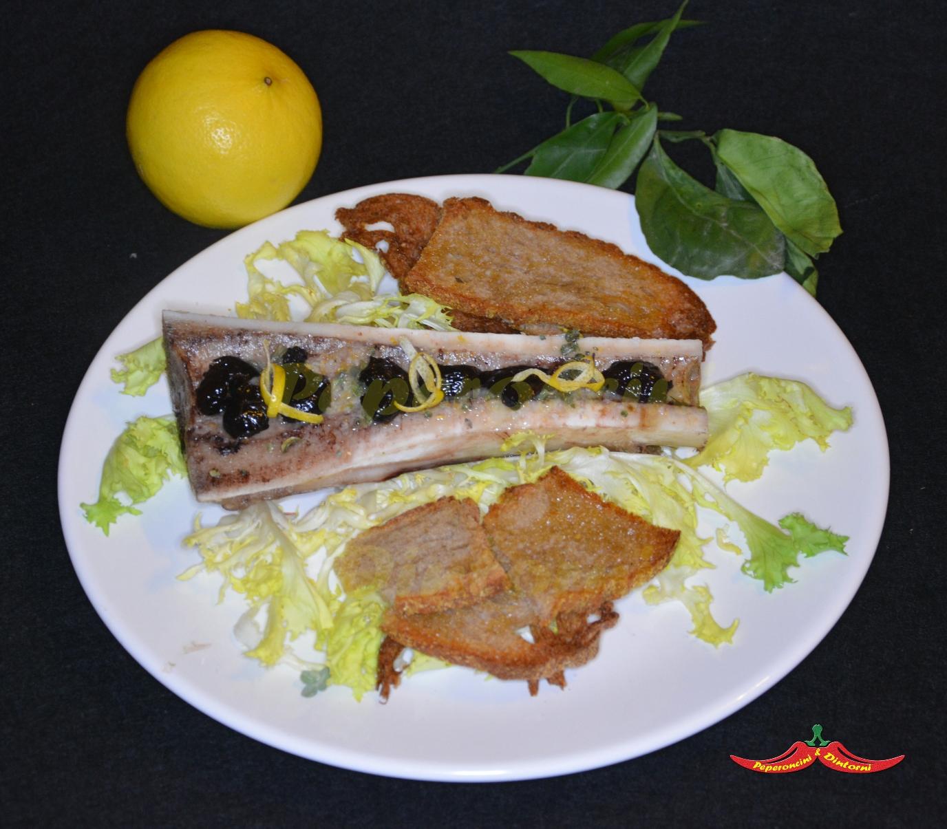 Midollo al forno con sale aromatizzato al Bergamotto