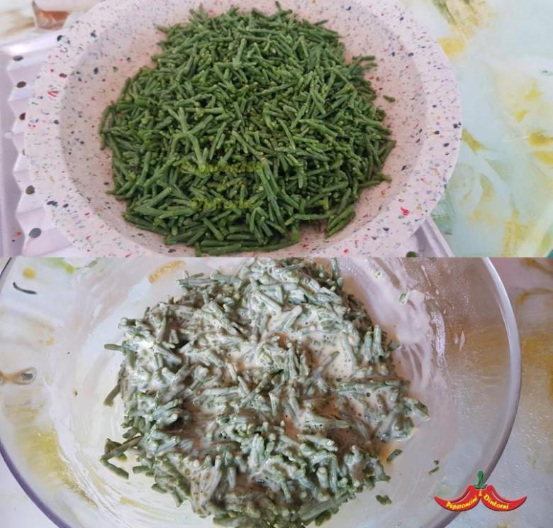 Frittelle di Salicornia preparazione