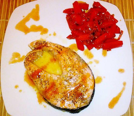 Salmone in salsa agrodolce al microonde