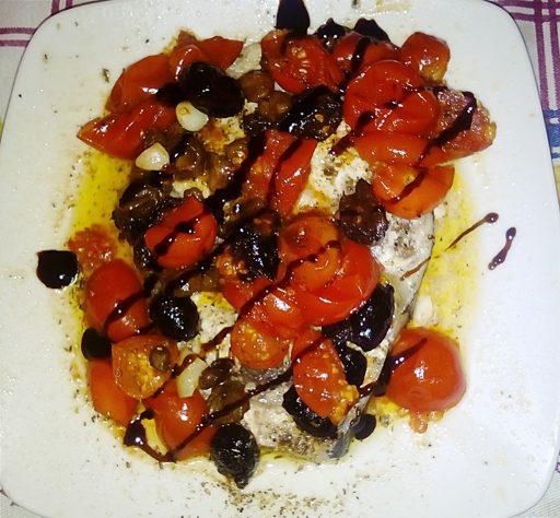 Pesce spada alla mediterranea al microonde