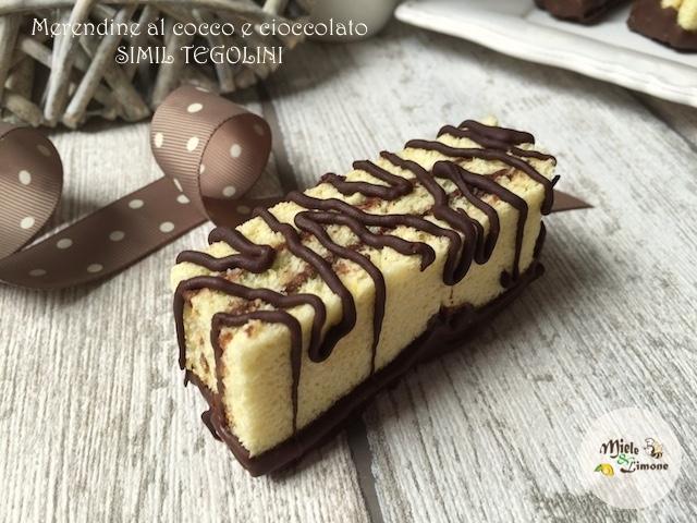 Merendine al cocco e cioccolato simil Tegolini – ricetta facile e golosa