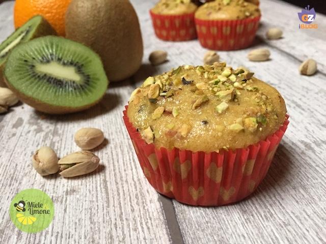 Muffin Arancia e Kiwi – ricetta vegan facile e veloce