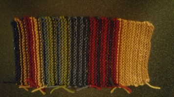 Garter stitch stripes, back
