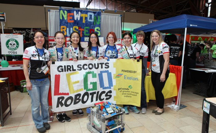 Girl Scout Team Places at World LEGO Robotics Championship