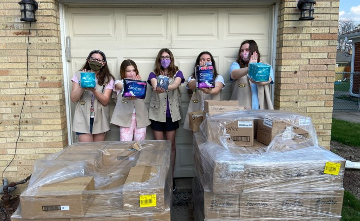 Girl Scouts are Earning the Silver Award for Menstrual Justice!