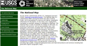 the newly updated National Map website
