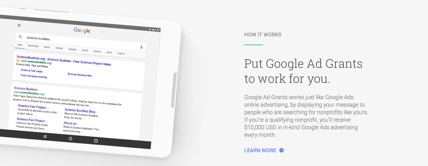 Google Ad Grants: the perfect boost for nonprofit fundraising