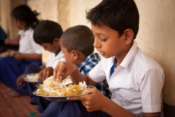 Knowing that their children will be well-fed, the parents dropped their apprehensions and readily agreed to send them to school.