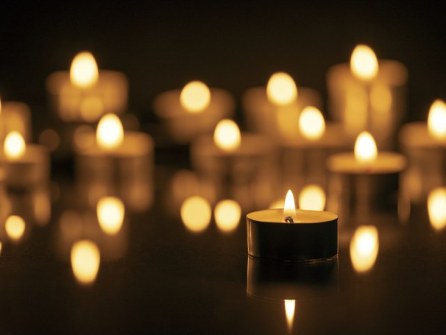 Picture of candles on a black background