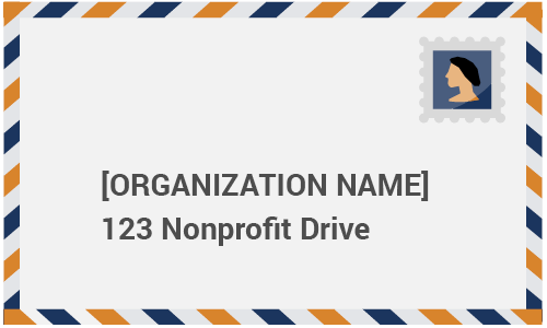 Here's an example of including an envelope in your direct mail for nonprofits.
