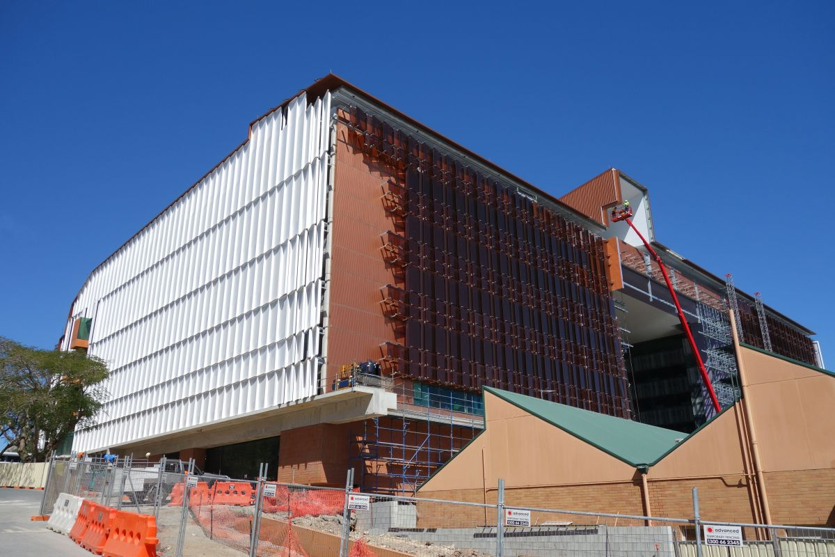 Situated on the Princess Alexandra Hospital campus, TRI is an ambitious new building project nearing complection.