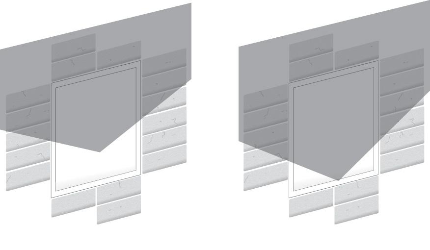Glass V on edge Shading