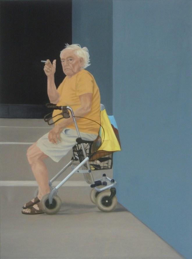 Andrea Eitel, Rast, 2009, Öl auf Leinwand, 120 x 90 cm
