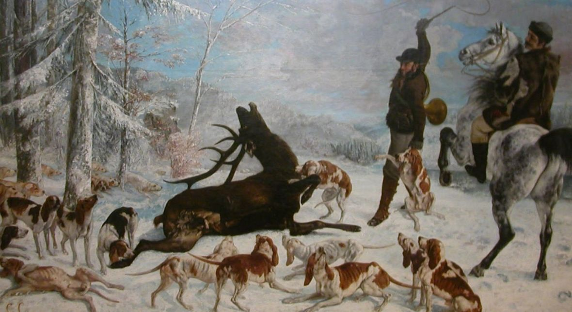 L'Hallali du Cerf, Gustave Courbet